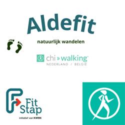 Aldefit, natuurlijk wandelen logo print