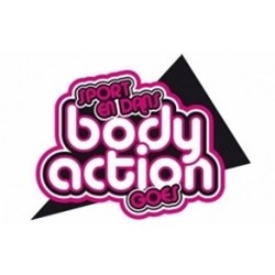 Body Action Goes logo print