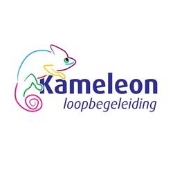 Kameleon loopbegeleiding logo print