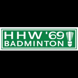 Badmintonvereniging HHW'69 logo print