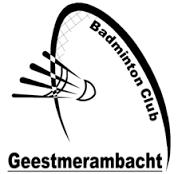 Badmintonvereniging Geestmerambacht logo print