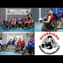 The Scorpions Wheelchair Rugby Club Utrecht (WRCU) logo print