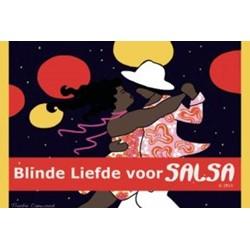 Blinde liefde voor salsa logo print