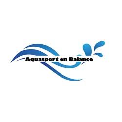 Aquasport en Balance logo print