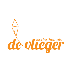 Kindertherapie De Vlieger logo print