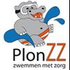 Logo PlonZZ, Zwemmen met Zorg
