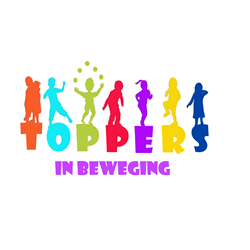 Toppers in Beweging logo print