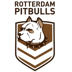 Rotterdam Pitbulls Rugby League Club logo print