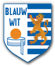 AKC Blauw-wit logo print