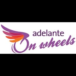 Adelante on Wheels logo print