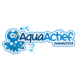 Aqua Actief zwemschool logo print