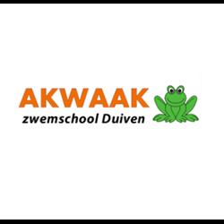 Akwaak zwemschool Duiven logo print