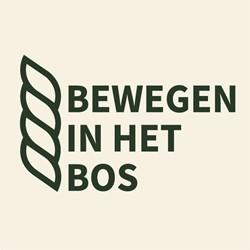 Bewegen in het bos logo print