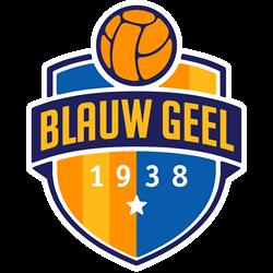 Blauw Geel'38/JUMBO logo print