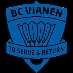 BadmintonClub Vianen logo print