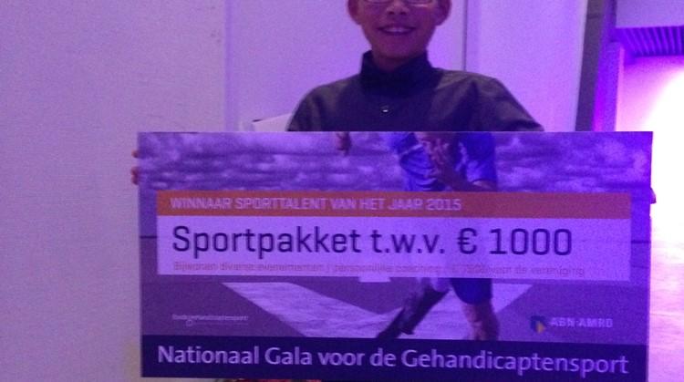 Yanu van Leeuwen is Sporttalent van het Jaar! afbeelding nieuwsbericht