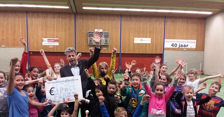 Kinderen lopen sponsorloop voor Jeugdsportfonds Doesburg afbeelding nieuwsbericht