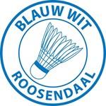 Logo Blauw Wit Badminton