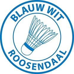 Blauw Wit Badminton logo print