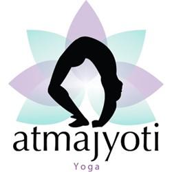 Atmajyoti yoga logo print