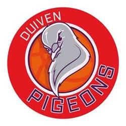 Basketbalvereniging Pigeons logo print