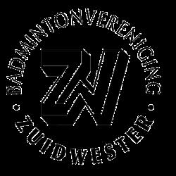 Badmintonvereniging Zuidwester logo print