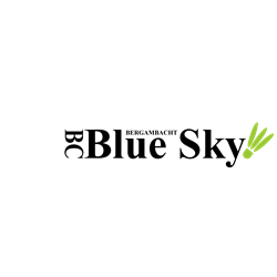 BC Blue Sky logo print