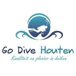 Go Dive Houten logo print