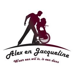 Dansgroep Alex en Jacqueline logo print