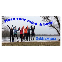 Sukhamana logo print
