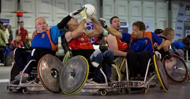 Afbeelding Niet voor watjes: rolstoelrugby!