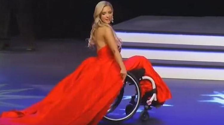 Madeline deed in rolstoel mee aan missverkiezing afbeelding nieuwsbericht