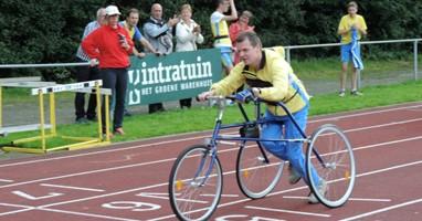 Afbeelding Jeroen was de eerste in Nederland met een racerunner