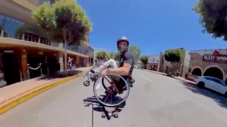 Evan gaat hard met zijn rolstoel-skateboard afbeelding nieuwsbericht