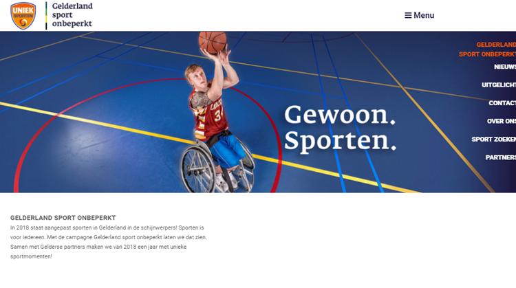 Gelderland sport onbeperkt live! afbeelding nieuwsbericht