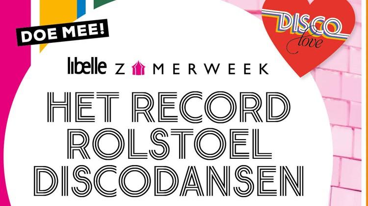 Recordpoging rolstoel discodansen tijdens de Libelle Zomerweek afbeelding nieuwsbericht