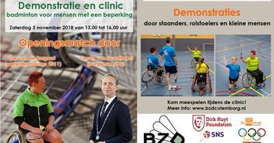 Demonstratiedag en clinic badminton in Culemborg afbeelding nieuwsbericht