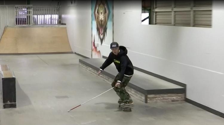 Blinde Japanner wil skaten op Paralympics afbeelding nieuwsbericht