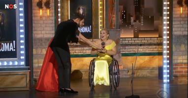 Afbeelding Broadway prijs voor actrice in een rolstoel