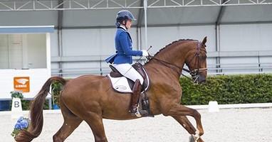 Afbeelding Esra rijdt paard met onzichtbare beperking