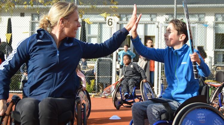Kom kennismaken met rolstoeltennis tijdens een clinic van Esther Vergeer! afbeelding nieuwsbericht