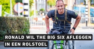 Afbeelding Ronald wil 6 marathons in zijn rolstoel doen