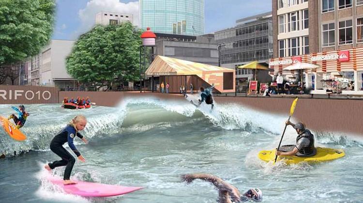 Straks kun je surfen op een grote golf in hartje Rotterdam afbeelding nieuwsbericht