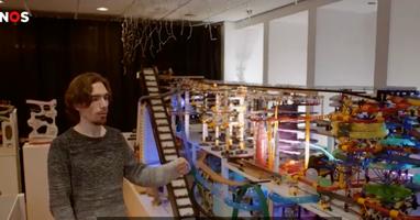 Afbeelding Autistische Jelle wereldberoemd met knikkerbaan
