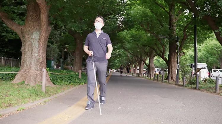 Trillende navigatie in schoenen voor blinden afbeelding nieuwsbericht