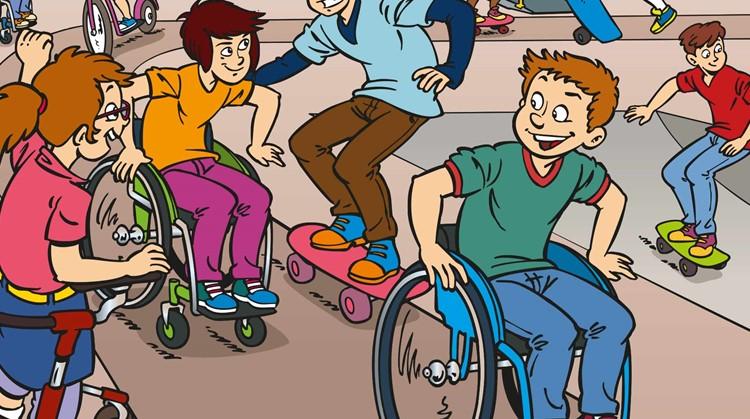 Sam en Sarah: striphelden in een rolstoel afbeelding nieuwsbericht