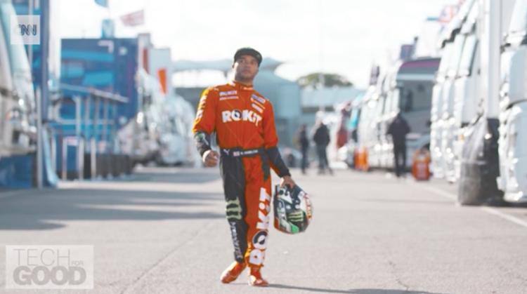 Nicolas Hamilton is ondanks CP autocoureur afbeelding nieuwsbericht