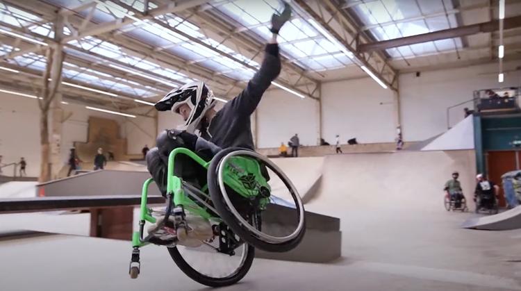 Het skatepark in met je rolstoel! afbeelding nieuwsbericht