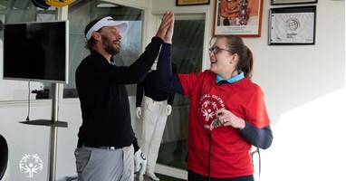 Afbeelding Julia is de eerste Nederlandse golfster op de World Games