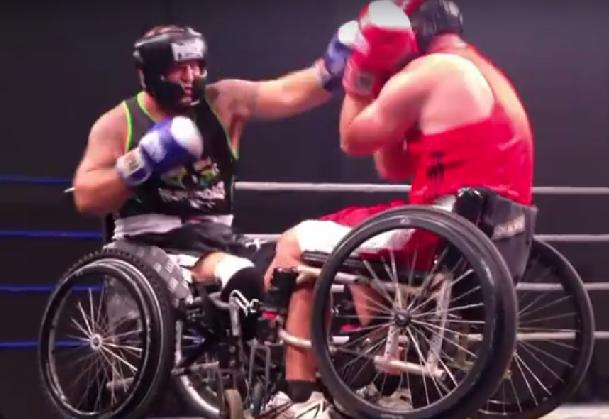 Wie zegt dat je in een rolstoel niet kunt boksen?  afbeelding nieuwsbericht